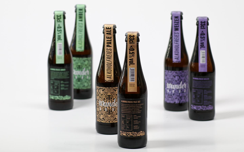 Branding alkoholfreies Bier, Packaging-Design